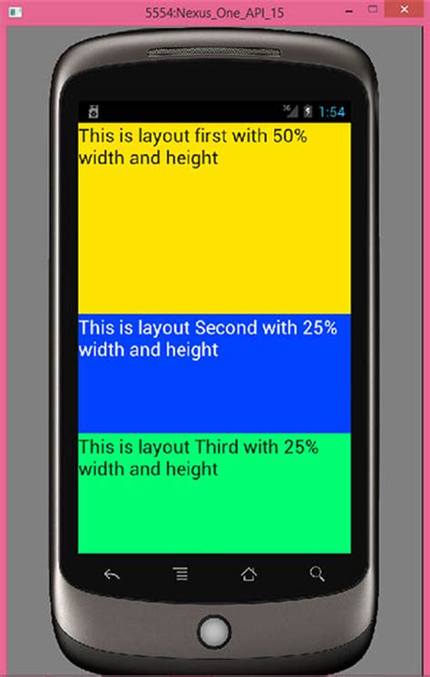 linearlayout percentage height set height and width in percentage format in layout
