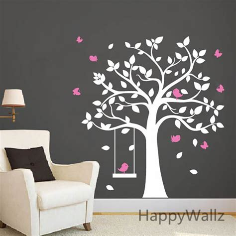 stickers chevaux pour chambre fille sticker logo picture more detailed picture about baby nursery tree wall sticker birds swing