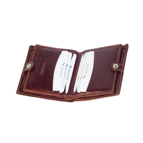 Snap Button Card Holder card holder with closure leather card