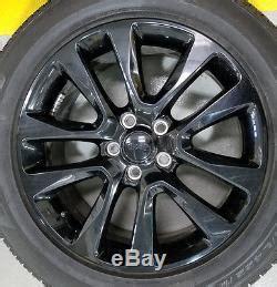 jeep grand factory wheels 20 jeep grand black oem factory wheels rims
