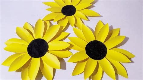 How To Make Sunflower From Paper - paper plate sunflower craft image collections craft
