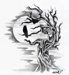 owl silhouette with tree by littledarkchild on deviantart
