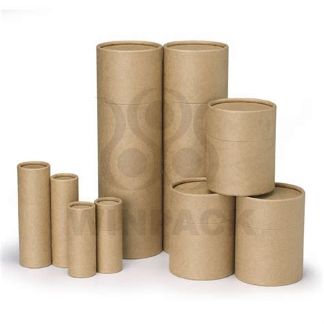 Wholesale Home Design Products by Natural Kraft Paper Tube Custom Packaging Box Cosmetic