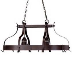 Island Pot Hanger Kitchen Island Pot Rack Lighting Foter