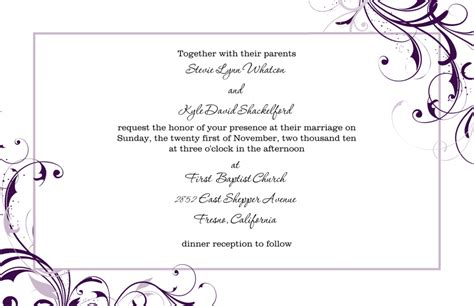 invitation word template 8 free wedding invitation templates excel pdf formats
