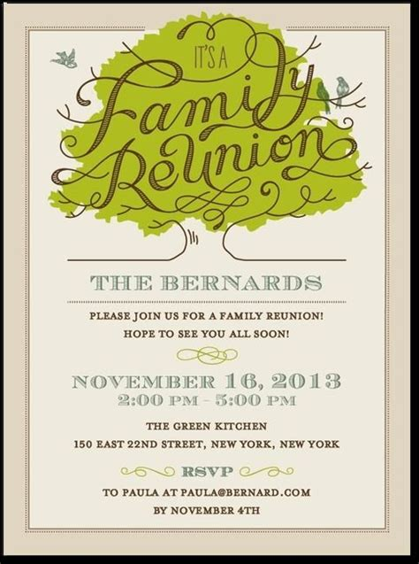 10 Images About Invitations On Pinterest Reunions High School Classes And Family Reunion Family Reunion Invitation Templates Free