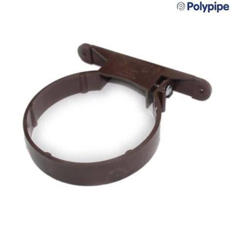 Polypipe Plumbing by Polypipe Soil And Vent 110mm Plastic Pipe Clip Brown Sc44br