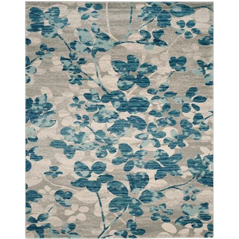 10 X14 Area Rug Safavieh Evoke Gray Ivory 10 Ft X 14 Ft Area Rug Evk220d 10 The Home Depot