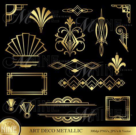 art design gold art deco clip art gold art deco accents design