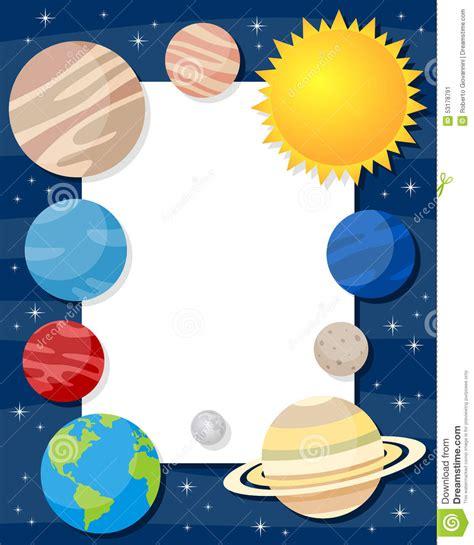 Nem Raymun Syari sonnensystem planeten vertikalen rahmen vektor abbildung