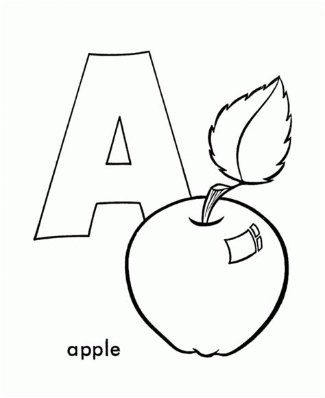 coloring page a is for apple apple coloring pages coloringsuite com