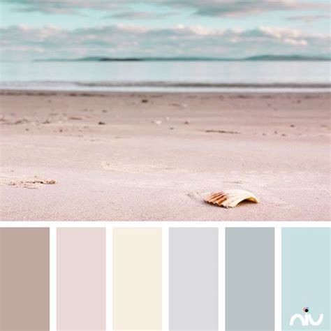 pastel beach landscape color palette paint inspiration