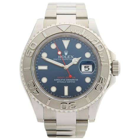 Rolex Yacht Master Automatic Stainless Steel L Garde Aaa rolex yacht master rolesium stainless steel and platinum gents 116622 2010s for sale at 1stdibs