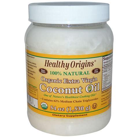 coconut oil healthy origins organic extra virgin coconut oil 54 oz