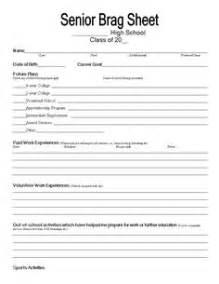 Brag Sheet Template For Letter Of Recommendation Brag Sheet Template Brag Sheet Template For Letter Of