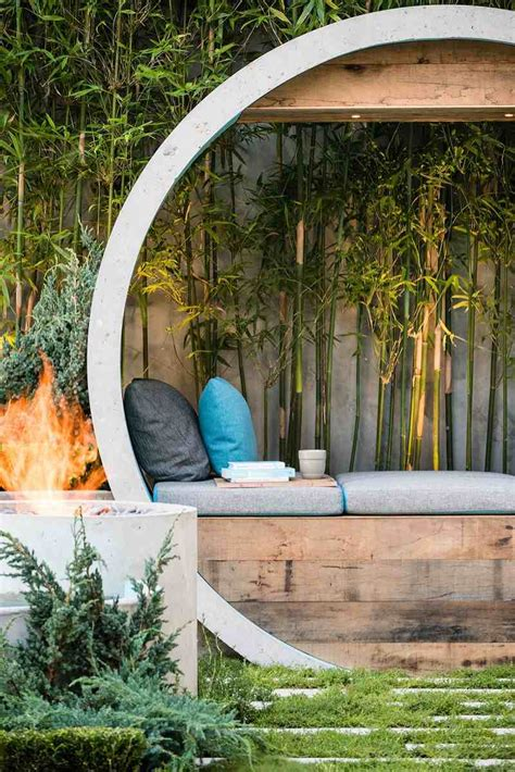 design my dream garden calming garden with elements made of concrete pipe pipe
