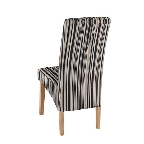Dining Chair Upholstery Fabric pair of roma dining chairs wooden legs light oak finish fabric upholstery ebay