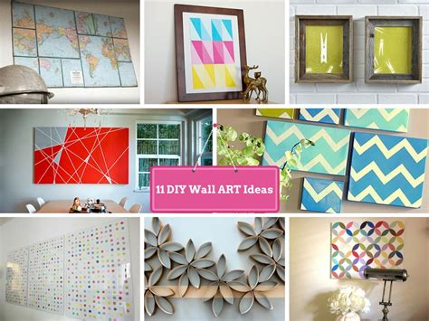 Handmade Wall Ideas - 11 diy wall decorating ideas to do makeover of boring walls
