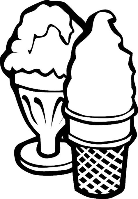 ice cream cup coloring pages serving ice cream with cup and cone coloring page