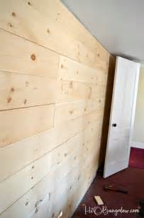 Adding Shiplap To A Wall Diy Shiplap Vs Planked Wood Walls H20bungalow
