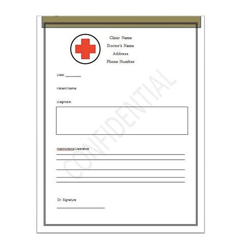 dr notes for work templates 25 free printable doctor notes templates for work updated