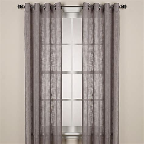 bed bath and beyond grommet curtains alton solid grommet window curtain panel bed bath beyond