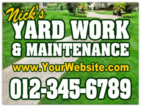 Landscape Yard Signs Landscaping Sign 104 Landscaping Sign Templates