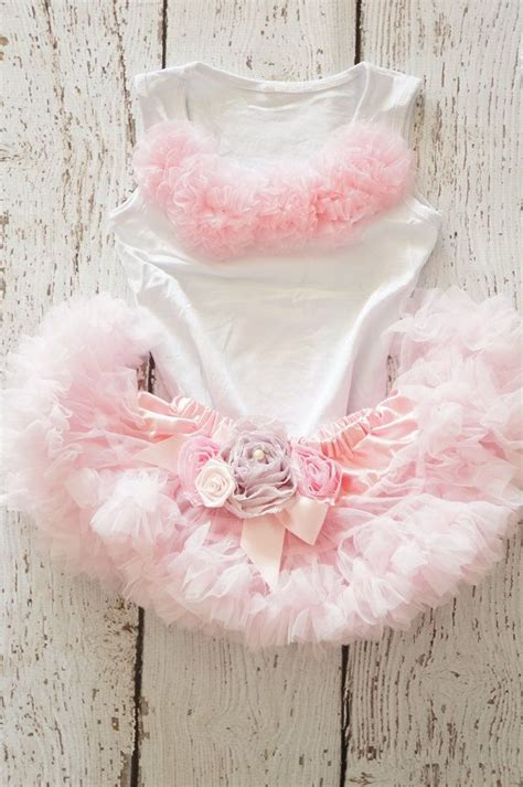 Pink Skirt Tutu Kaca fluffy boutique pettiskirt with lavender and