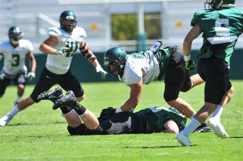 Graduated With 3 6 From Cal Poly Enough For Mba by Gallery Locals Take The Field For Cal Poly Scrimmage