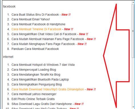 buat daftar isi menggunakan heading cara membuat daftar isi blog berdasarkan label otomatis
