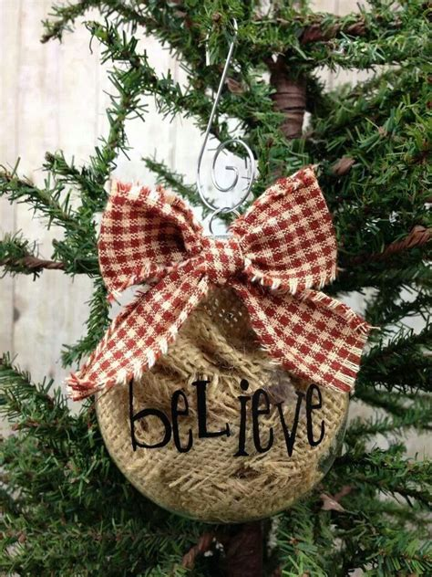 diy burlap ornaments pin by becky lien on craft ideas
