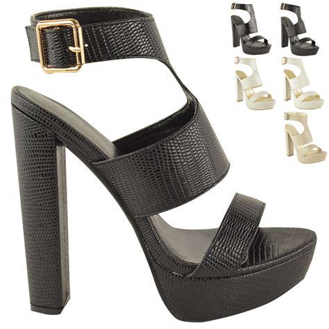 new womens high heel platform sandals ankle strappy