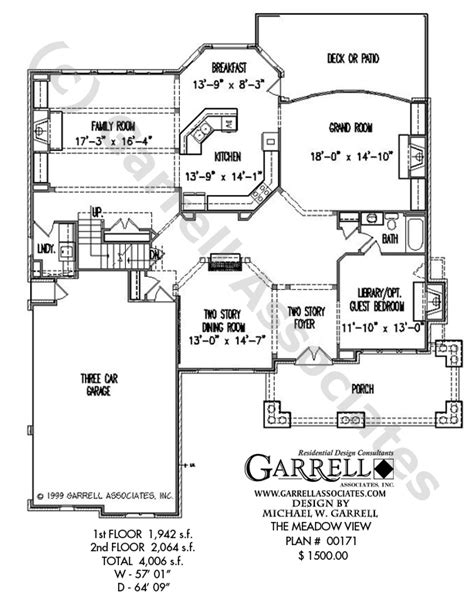 house plans for a view meadow view house plan house plans by garrell associates