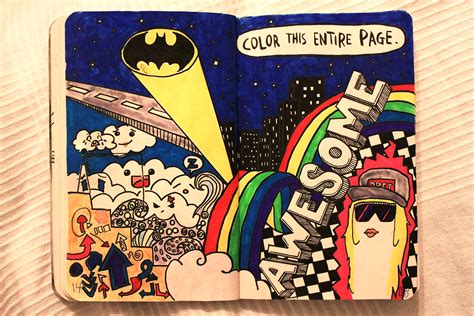 wreck this journal color this entire page by monxi on