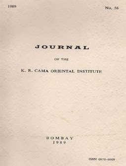 cama oriental institute journal no 56 103 pages 1989 the k r cama oriental