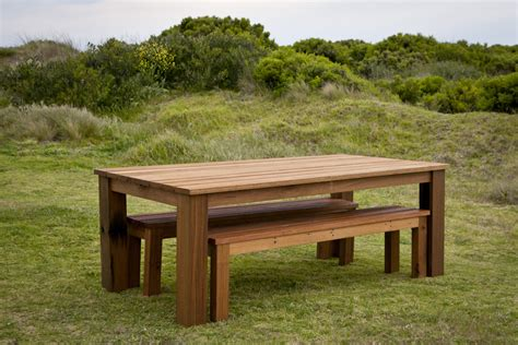 wooden outdoor table with bench seats outdoor table set bespoke outdoor table