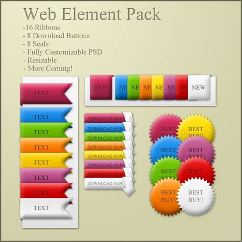 pattern web element web element pack