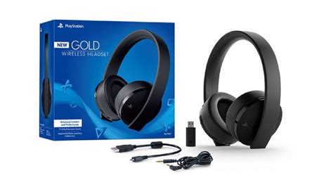 Sony Gold Wireless Headset sony introduces new gold wireless headset for ps4 and ps vr ign