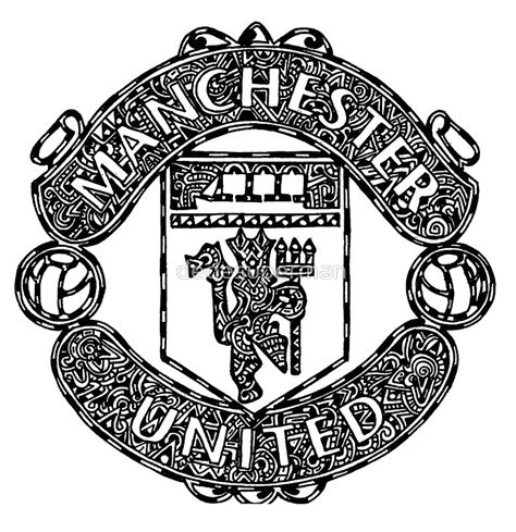 doodle manchester united quot manchester united logo doodle quot posters by dedesuperman
