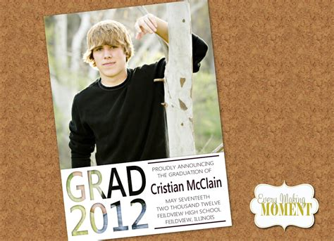 Mba Graduation Announcement Template by Ideas About High School Graduation Announcement Wording