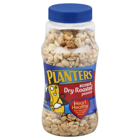 Planters Peanuts 16 Oz by Planters Roasted Unsalted Peanuts 16 Oz