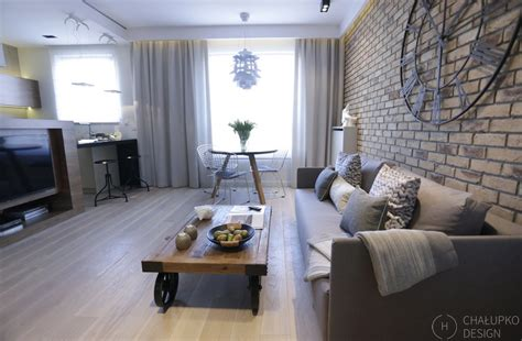 modern industrial interior design post industrial apartment in warsaw exhibiting a clean and