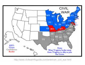 us civil war and south map learn some history