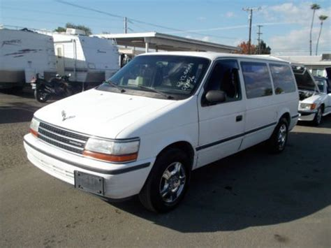 plymouth grand voyager 1993 gray how to fix 1993 plymouth grand voyager engine rpm going buy used 1993 plymouth voyager no reserve in orange california united states