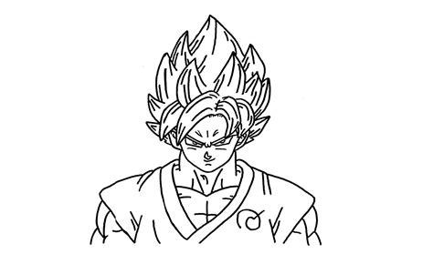draw goku super saiyan god blue ssgss