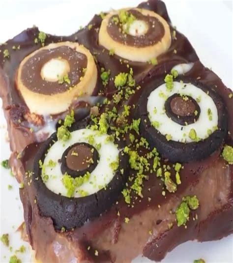 emel mutfakta trtl kurabiye ikolatal iki renkli muzlu 231 ikolatalı puding duo 2 resimli yemek