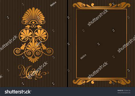 gold decorative elements vector luxury restaurant menu with gold decorative elements
