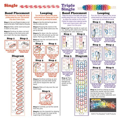 loom band unicorn printable instructions wonder loom instructions page 1 rainbow loom looms
