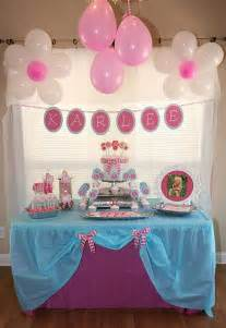 Home Made Birthday Decorations Flower 2nd Birthday Party Oh My Creative