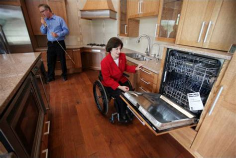 kitchen layout for elderly wheelchair accessible universal design home from the ground up